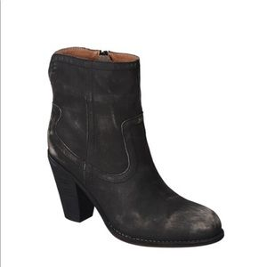 Corso Como Distressed Leather Harvest Ankle Boot